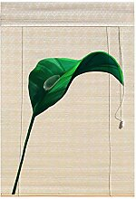 XIAOYAN Rollos Bambusvorhang mit grünem