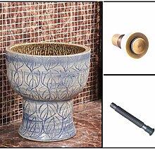 Xiaoyu Wischmopp-Pool Retro Keramik Einteilige