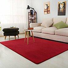 XIAOYUDT Einfarbiger Teppich, kein Ausbleichen