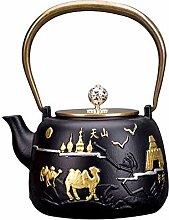 Xiaozhan Japanische Teekanne Gusseisen 1200Ml,