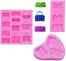 Xidmold 3 Stück Handtasche Clutch Taschen