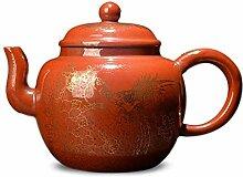XIEQUN Emaille-Teekanne (Farbe: Orange)