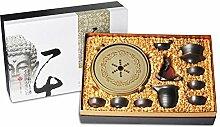 Xiequn Tee-Set für den Haushalt, Brennholz,