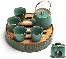 Xiequn Tee-Set mit Alkoholkocher, Ti Liang Kanne,