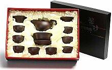 Xiequn Tee-Set mit Teekanne und Kung Fu Teetablett