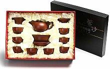 Xiequn Tee-Set mit Teekanne und Teetablett für