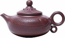 Xiequn Teekanne aus lilafarbenem Ton mit alter