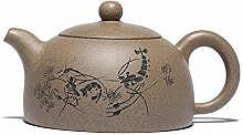 XIEQUN Teekanne mit Segment-Ton, Teekanne (Farbe: