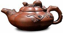 XIEQUN Teekanne Trauben (Farbe: Braun)