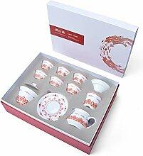 XIEQUN Xianglong Wolken weißes Porzellan Tee-Set