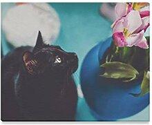 XiexHOME Mode Wandkunst Tulpe Nette Katze Tier