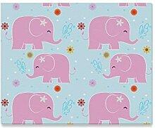 XiexHOME Wandfarbe für Kinder Rosa Elefant Big