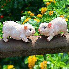 XIFIRY Gartenzwerge mit niedlichem Schwein,