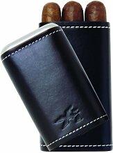 XiKAR 243BK 3 Cigar Envoy Leather Travel Humidor