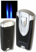 Xikar Axia Doppel-Jetflamme Feuerzeug black inkl.