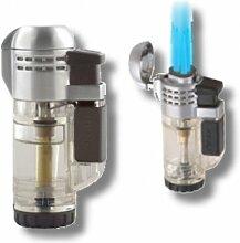 Xikar Tech Feuerzeug Triple-Jetflamme clear