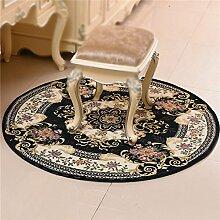 XIN-Carpet Klassischer Gestickter Runder