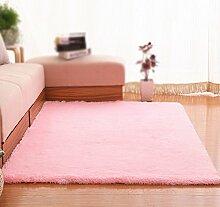 XIN-Carpet Rosa Beleg-Wolldecken/Teppich/Wohnzimmer-Sofa-Bett-Couchtisch-Schlafzimmer-Wolldecke/Matratzen-Aufbereiter-Teppich (größe : 80*160cm)