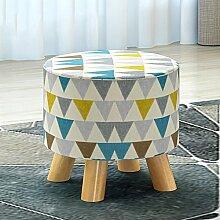 Xin-Hocker Schuh Hocker/Mode Hocker/Massivholz Hocker/kreativ tragen Stuhl/Stoff Hocker/Kissen (stil : B)