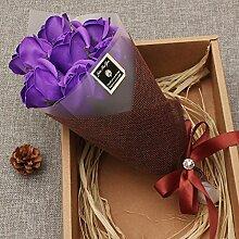 Xin Home 7A Bouquet of Kit (nur für Sie) Seifen Blumen Künstliche Blumen für Valentinstag Geschenk Ideen Nelken Rosen Valentinstag Geschenke Maiden Honig Mother 's Day To Mom