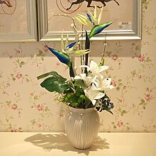 XIN HOME Emulation Blume künstliche Blumen kit Tisch Wohnzimmer Rezeption Hallenbad Wohnzimmer home Dekorationen, florale Kunst, Ornamente, blau
