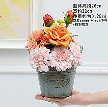 XIN HOME Emulation Künstliche Blumen Kit Ornamente Home Decor Blumenkunst Geschäfte, Combo 8