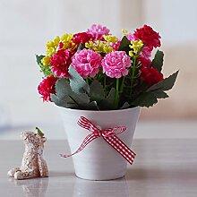 Xin Home Keramik Kugel Vasen künstliche Blume Home Dekorationen frische kleine Blumengarten Ornamente Wohnzimmer Möbel, Emulation Ro