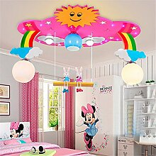 XIN HOME Moderne Kinderzimmer Deckenleuchte Augenschutz Mode moderne Kindergarten Schlafzimmer Light Boy Girl Princess Cartoon Möbel Beleuchtung, blaue LED