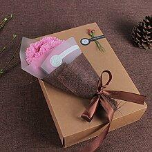 Xin Home Pink Seife Blumen Künstliche Blumen für Blumensträuße Nelken Mütter Tag Retro-Geschenk Geschenk-Box Creative Geschenke