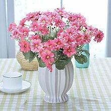 XIN HOME Simulation künstliche Blume Anzug Topfpflanzen Rose Blume Entsprechen Dekoration Tisch Dekoration Dekoration Schmuck, Rose rote Chrysantheme Rose Ro