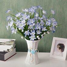 XIN HOME Simulation künstliche Blume Blumen Topfpflanzen Wohnzimmer Möbel Dekoration Blumen Foto Hintergrund Dekoration Requisiten, Blume Rahmen + Blaue Narzisse