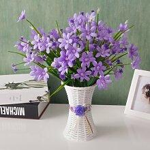 XIN HOME Simulation künstliche Blume Blumen Topfpflanzen Wohnzimmer Möbel Dekoration Blumen Foto Hintergrund Dekoration Requisiten, Blume Rahmen + Lila Narzisse