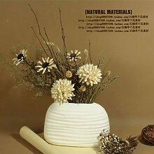 XIN HOME Simulation künstliche Blume Farbe natürlichen Getrocknete Blumen Kunst Dekoration Blumenstrauß Wohnzimmer Erdgeschoss Fake Blumen, (inkl. Vase)