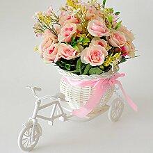 XIN HOME Simulation künstliche Blume gesetzt Fake Blume Ornament Kunst Wohnzimmer Dekoration Ort Blume, Rosa Schatz