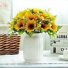 XIN HOME Simulation Rosen künstliche Blume Set Home Esstisch Anlage Potted Flower eingerichte