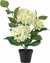 XIN HOME Simulierte künstliche Blume Set Topfpflanze Hortensie Home Dekoration Dekoration Wohnzimmer Geschirr, Weiß