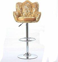 Xin-stool Bar Stuhl/Bar Stuhl/Lift Bar Stuhl/Schwenk Rückenlehne Hochstuhl/stilvolle einfache Bar Hocker (stil : C)