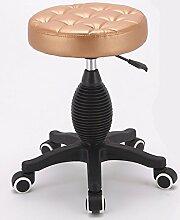 Xin-stool Barhocker/Friseursalon/Drehhub, Schönheitshocker/mobiler kleiner Hocker, bequem und langlebig (Farbe : H)