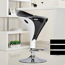 Xin-stool Europäische Bar Stuhl/Bar Stuhl/Mode Bar Lift Stuhl/Bar Hocker/Kassierer Hocker/Vordersessel/hohen Hocker (Farbe : Schwarz)