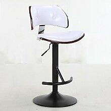 Xin-stool Europäischer Stil Bar/Bar Hocker/Bar Stuhl/europäischen Stil, Lack Basis (Farbe : Weiß)