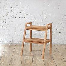 Xin-stool European-style einfache und umweltfreundliche Massivholzmöbel, Eiche Hocker Leiter, zweistöckiges Design