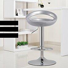 Xin-stool European-style Hause Bar Stuhl/Mode einfache Bar Hocker/Lift Stuhl/Bar Stuhl/High Stuhl Bar Hocker (Farbe : Silber)