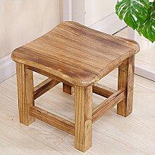 Xin-stool Home Hocker/Mode Massivholz kreative Bank/kleine Hocker/Wechsel Schuh Hocker/Wohnzimmer einfache moderne Hocker (Farbe : Holzfarbe)