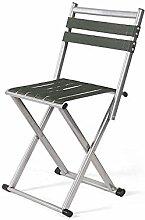 Xin-stool Klappbarer Hocker/beweglicher Hocker/einfacher im Freienfischenstuhl/Hauptlehne kleine Bank (Farbe : Silber, größe : 30*30*67CM)