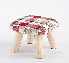 Xin-stool Kleiner Hocker/fester Hocker/kleiner Hocker/quadratischer Hocker/niedriger Hocker, Art und Weise kreativer Änderungsschuhhocker (Farbe : Rot, größe : 28*28*21CM)