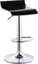 Xin-stool Langlebig, leicht und bequem, stilvolle Bar Stuhl/home Bar Hocker/einfache einfache Bar Stuhl (Farbe : Schwarz)