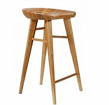 Xin-stool Massivholz Bar Hocker/Bar Hocker/Retro Massivholz Bar Stühle/Hause hohen Hocker (größe : 42*32*65CM)