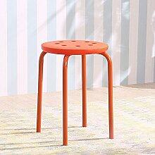 Xin-stool Plastikhocker/Art und Weise kreativer Hocker/runder Stuhl/Haupt kleine Bank (Farbe : Orange)