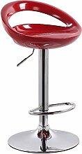 Xin-stool Resin Farbe, Aufzug Bar Stühle, hohen Hocker, einfache Art, geeignet für eine Vielzahl von Orten (Farbe : Rot, größe : 38.5*(80-100) CM)