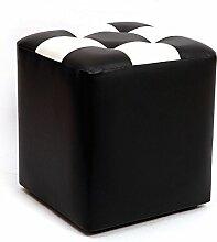Xin-stool Wasserdichtes PU-Leder, verschleißfeste, leicht zu reinigende, runde/quadratische Hocker (stil : F)